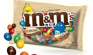Whatever happened to..... wallpaper probably with an easter egg, a jelly bean, and a candy egg titled Almond M&M's