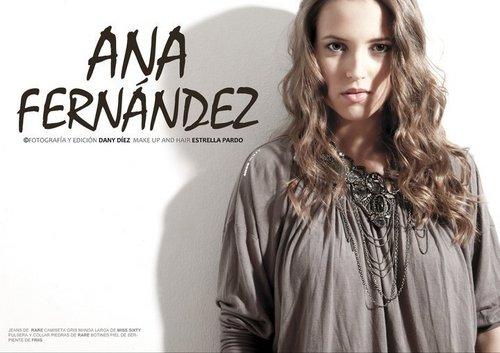 "Ana Fernández portada de ""Lanne Magazine"""