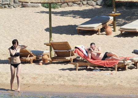 Andres Iniesta with Anna Ortiz vacation at Sardinia