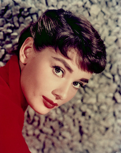 Audrey durng the filming of Sabrina 1954