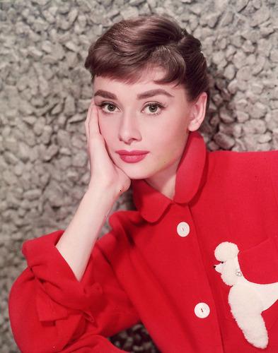 Audrey durng the filming of Sabrina 1954