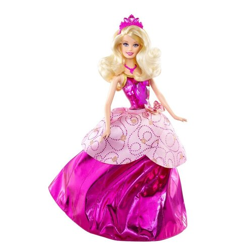 Sinema za Barbie karatasi la kupamba ukuta possibly containing a hoopskirt entitled Barbie: PCS - Blair - 3-in-1 Transforming Doll (LARGE FOR GOOD!)
