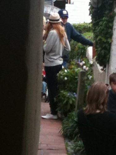 Blake Lively & Leonardo DiCaprio in Carmel, California.