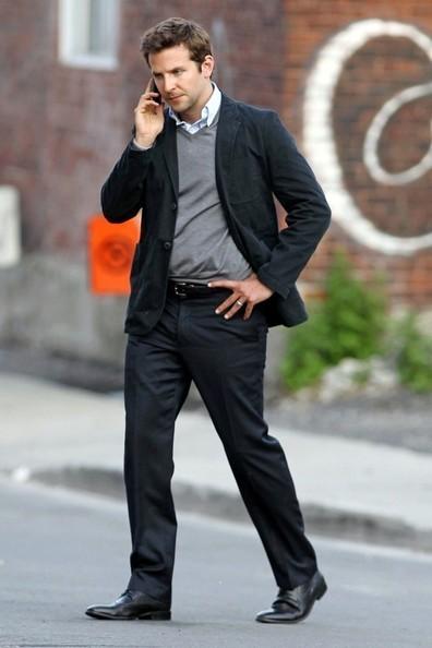 Bradley+Cooper+Bradley Cooper  on Set Montreal