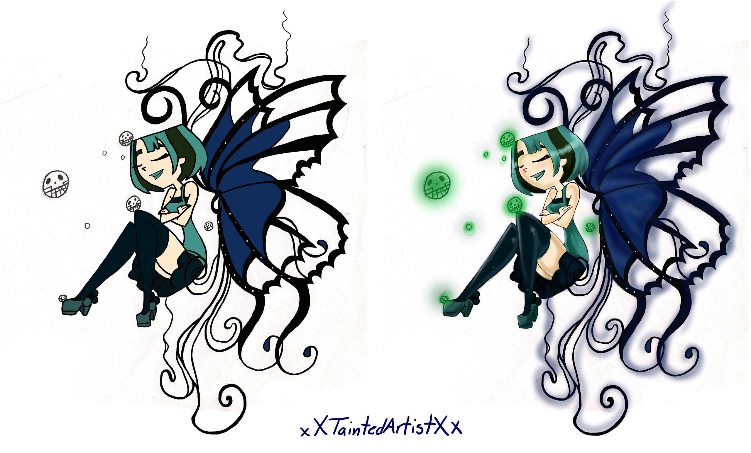 kupu-kupu Tattoo (Colored)