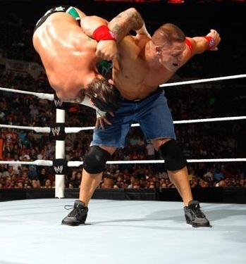 CM Punk wallpaper entitled CM Punk vs Cena (all star Raw)