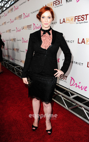 "Christina Hendricks arrives at the ""Drive"" Gala Premiere in L.A, June 17 - christina-hendricks Photo"