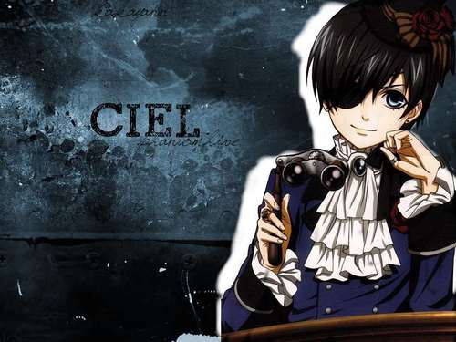 Ciel Phantomhive wolpeyper with a sign and anime titled Ciel Phantomhive