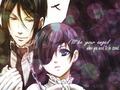 Ciel & Sebastian - ciel-phantomhive wallpaper