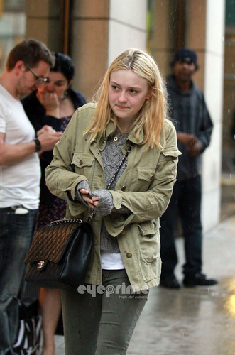 Dakota Fanning shops at Barney's New York in Manhattan, June 14