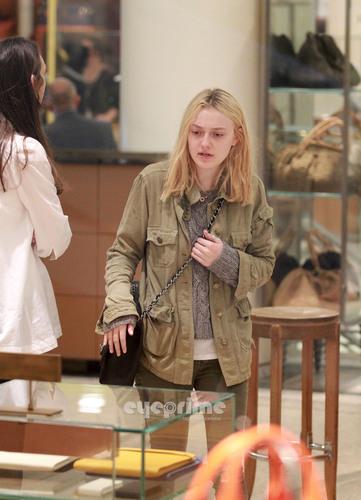 Dakota Fanning shops at Barney's New York in Manhattan, June 14