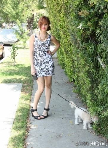 Debby taking Presley for a walk (June 15, 2011)