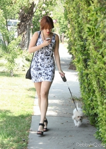 Debby taking Presley for a walk (June 15, 2011)