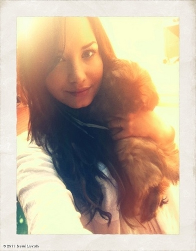 Demi with her dog