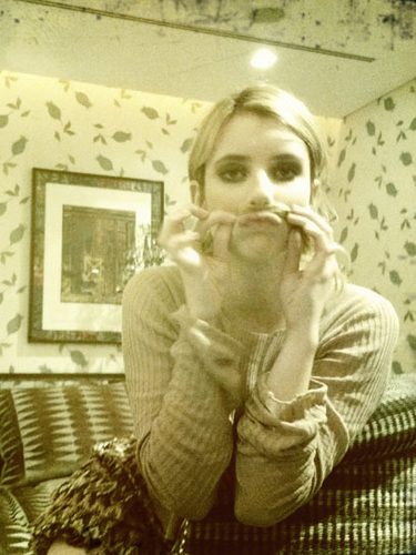 Emma Roberts Behind the Scenes.
