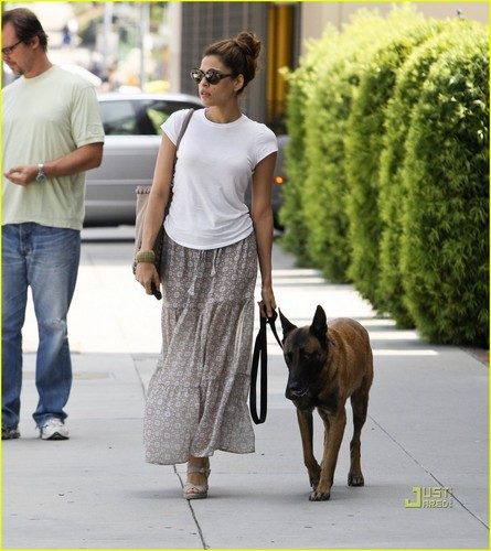 Eva Mendes: Out for a Walk with Hugo