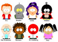 Футурама gang(South Park version characters)