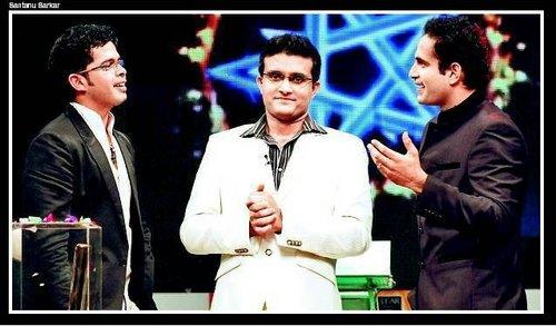 Ganguly with Shreesanth and Irfan
