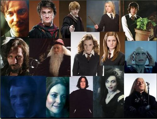 Harry Potter karatasi la kupamba ukuta called Harry potter collages