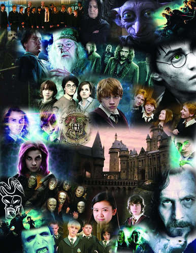 Harry Potter karatasi la kupamba ukuta probably with anime entitled Harry potter collages