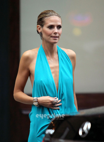 Heidi Klum: amfAR Inspiration Gala in New York, Jun 14
