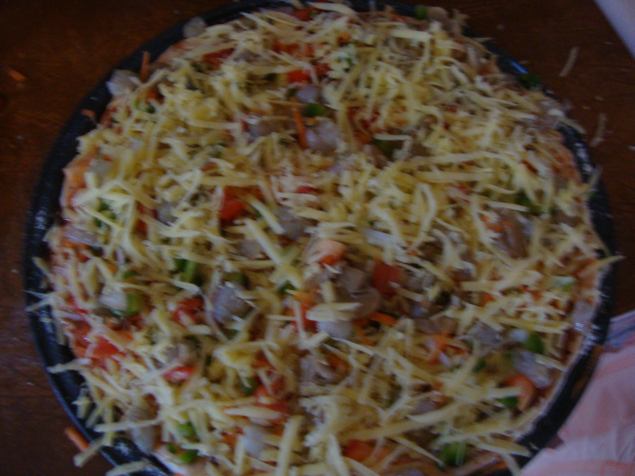I made pizza!!
