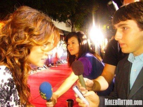 Kaleb interviewing Nikki Reed