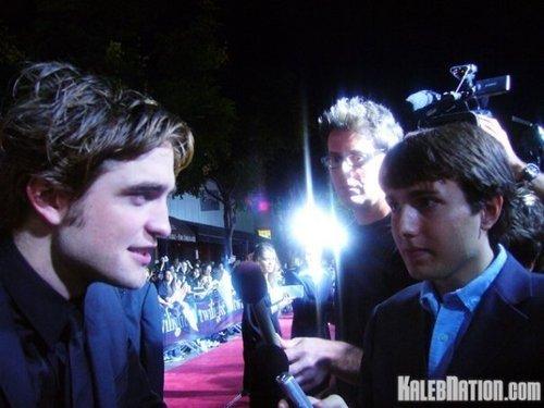 Kaleb interviewing Robert Pattinson