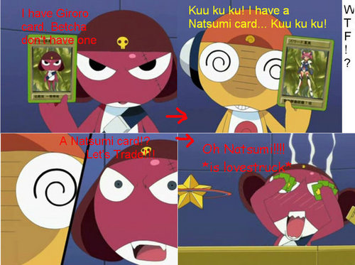 Sgt. Frog (Keroro Gunso) wallpaper possibly with anime entitled Kururu and Giroro