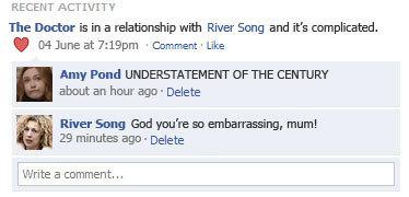The Doctor and River Song karatasi la kupamba ukuta titled LMFAO xD