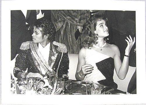 Michael and brooke at the Grammy awards after mostra party 1984