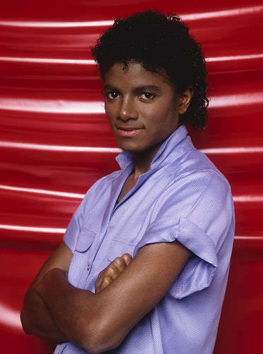 Michael in purple
