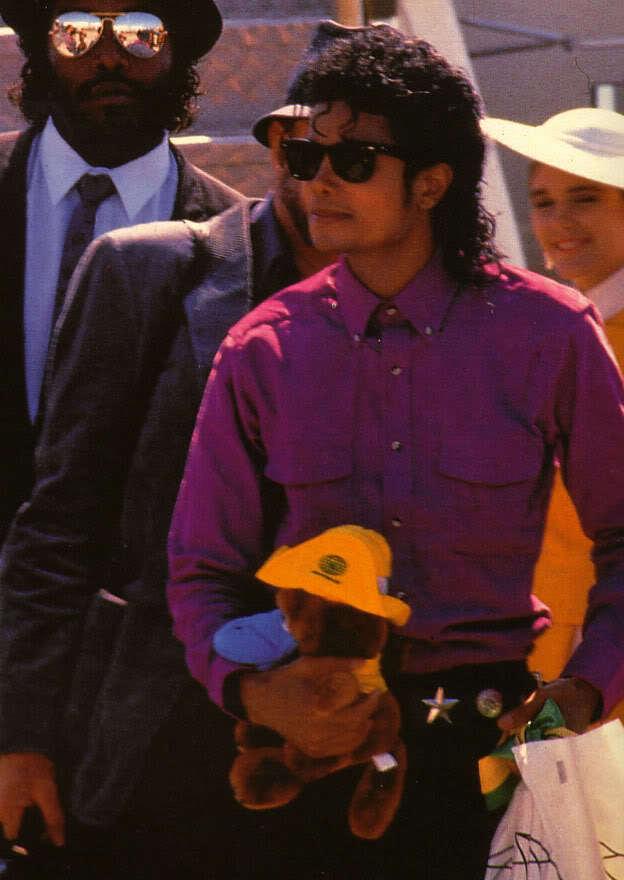 Michael in purple