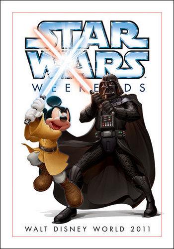 Micky ratón and Darth Vader