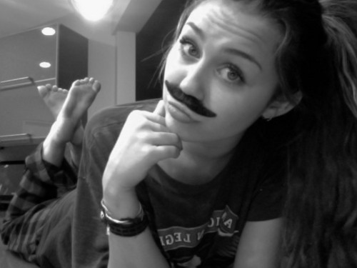 Miley Cyrus Mustache
