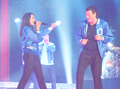 Monchele @ Glee Live.  - lea-michele-and-cory-monteith photo