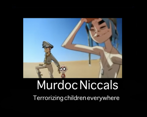 Murdoc & 2D Motivational Poster