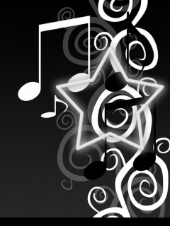 Singing wallpaper entitled Music