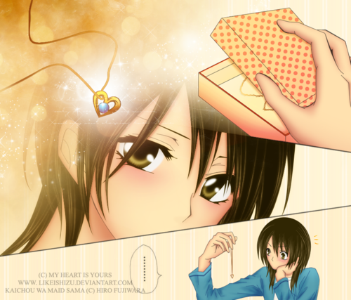 Kaichou wa Maid-sama wallpaper possibly containing a portrait called My jantung is yours