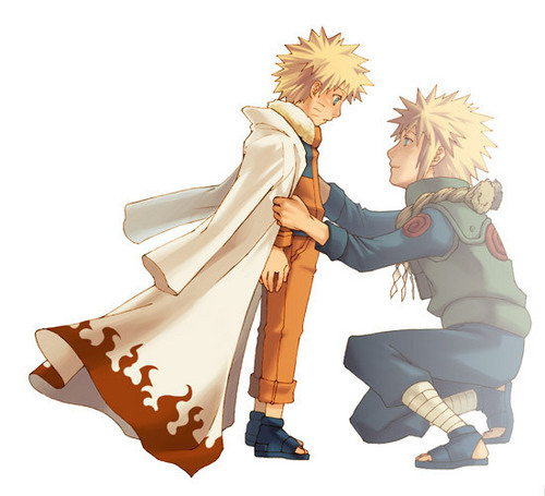 Uzumaki Naruto (Shippuuden) Hintergrund titled Naruto and his father