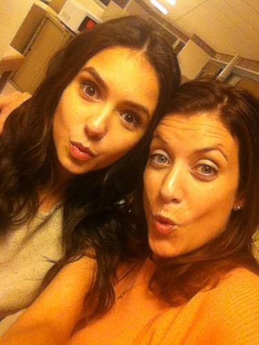 """Nina at the set of """"Perks..."""" with Kate Walsh"""