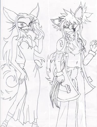 Older Alisha and Ryuu
