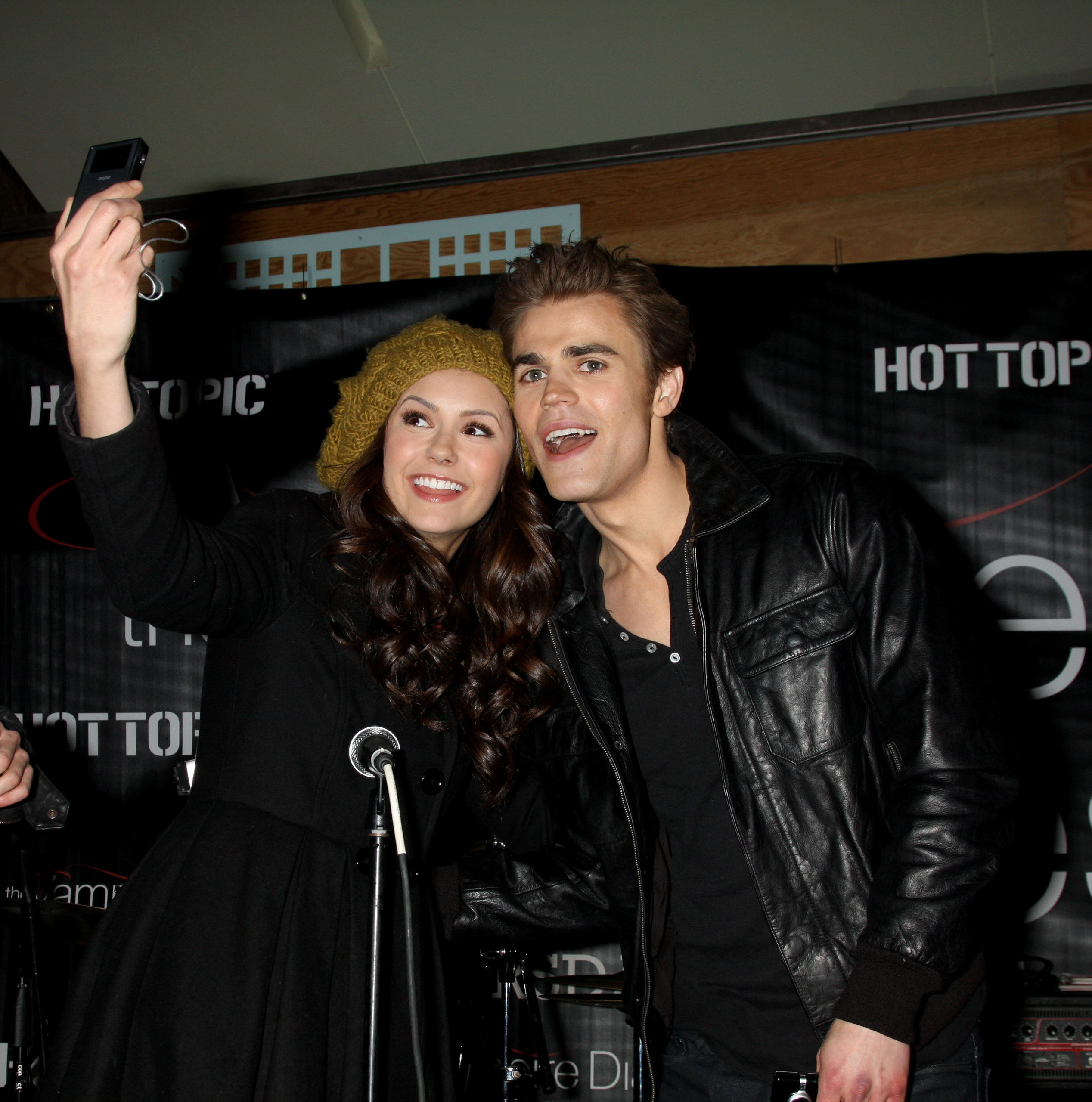 Paul Wesley and Nina Dobrev images Paul and Nina smile HD ...