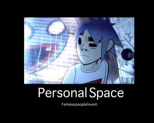 Personal Space Motivational Poster