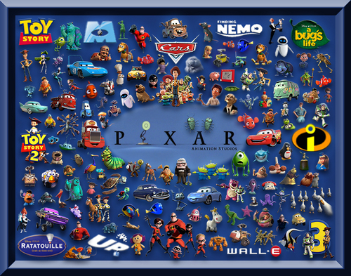 pixar cine and Characters