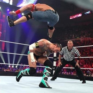Punk vs Cena (all звезда Raw)