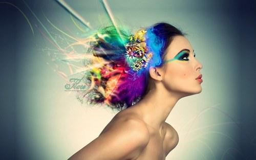 радуга Hair Обои