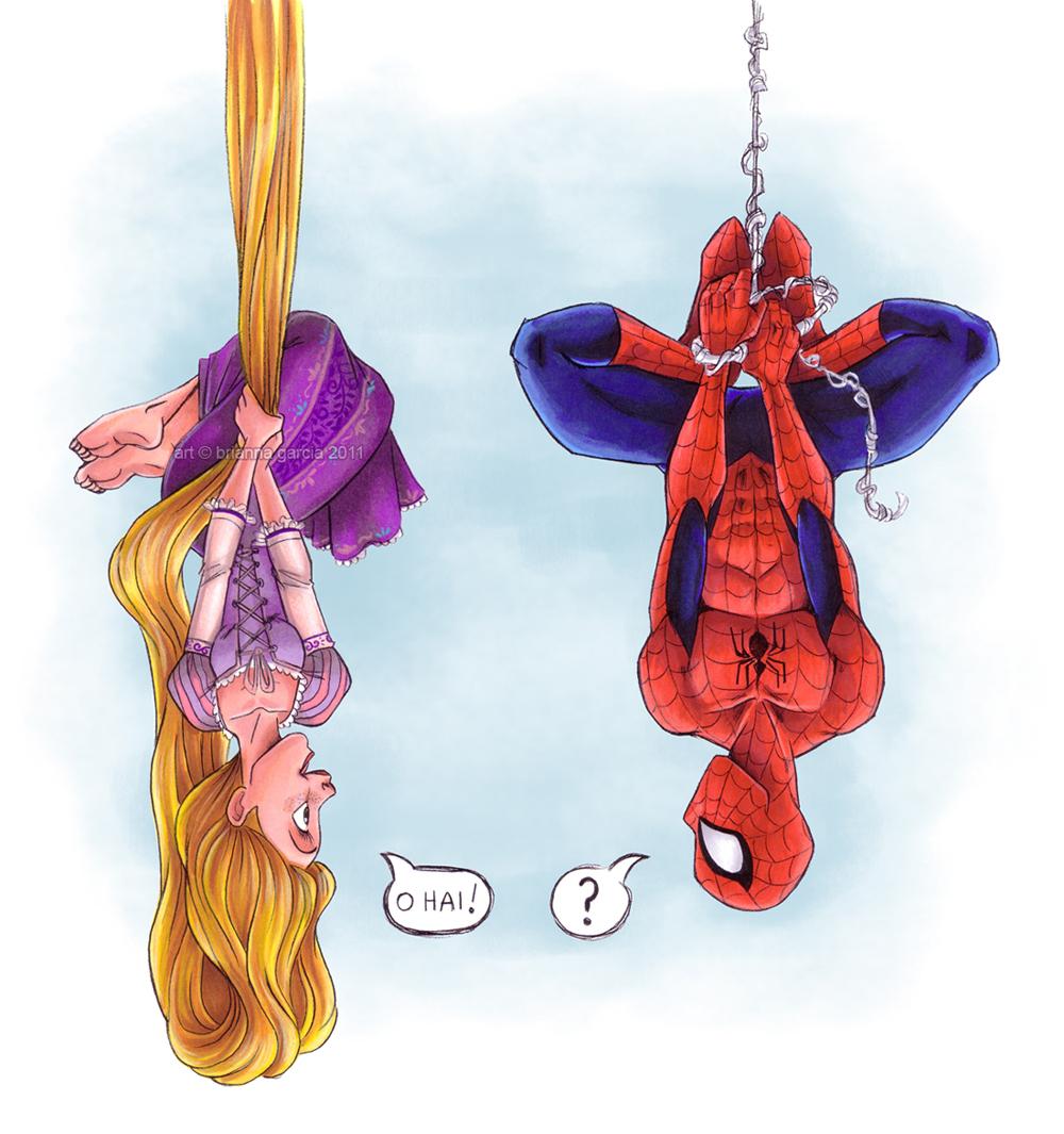 Rapunzel VS Sider man