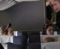 Rob and Kris on the plane <3 - twilight-series photo