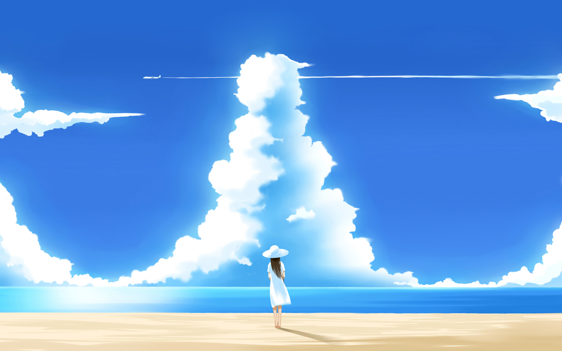 Sky anime wallpaper 22925091 fanpop - Anime sky background ...